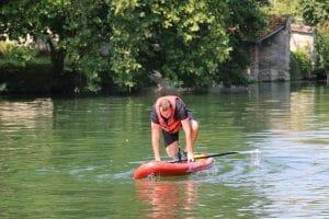 A la recherche d'équilibre sur le paddle