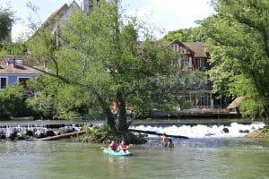 Canoës sur le Loing