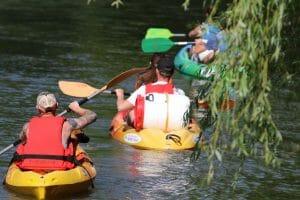 Canoë kayak sur le Loing