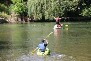 Canoë kayak sur le Loing de Grez sur Loing à Moret sur Loing