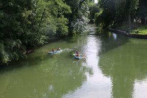 Plaisir du canoë sur le Loing