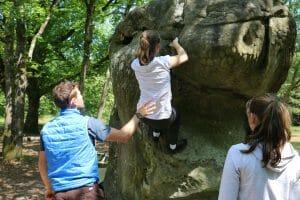 Initiation escalade en Forêt de Fontainebleau