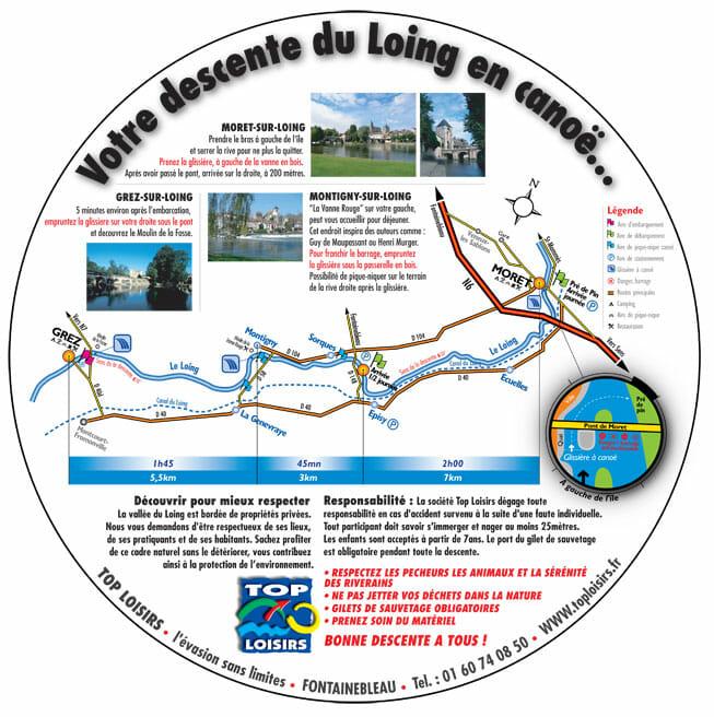 plan descente canoë / kayake