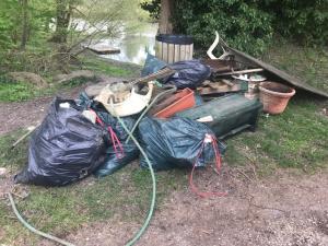 déchets ramassés entre Montigny et Episy